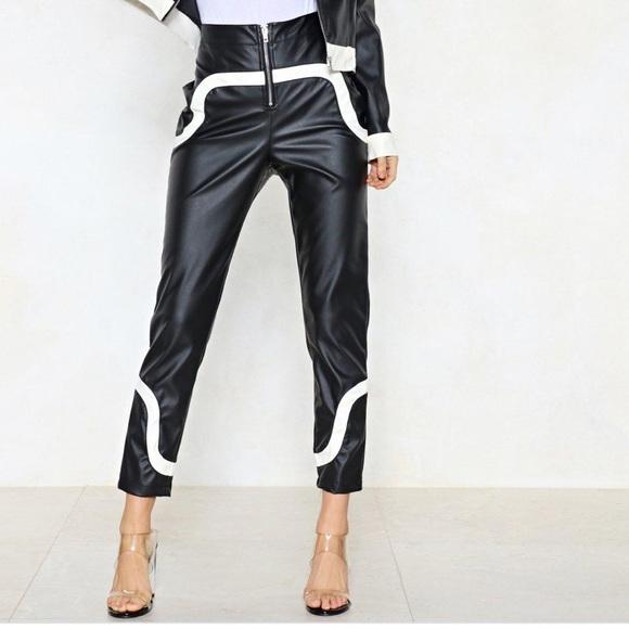 Nasty Gal Pants - Nasty Gal Vegan Leather Pants
